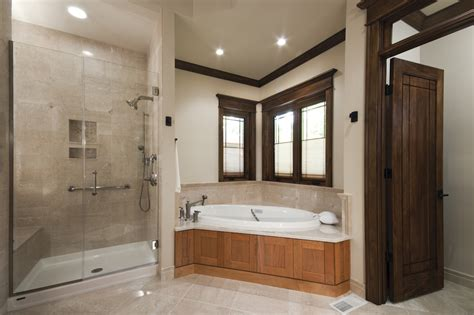 Mosaic Bathroom Tiles Ideas by Fiberglass Shower Pan Bathroom Traditional With Corner Windows Crown Molding Frameless Shower