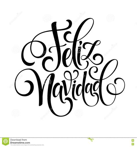 Feliz Navidad Hand Lettering Decoration Text For Greeting Card Design Template Merry Christmas Free Merry Letter Template