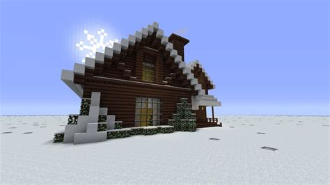 minecraft christmas winter cabin  build  real