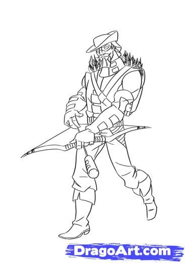 green arrow coloring pages green arrow coloriage