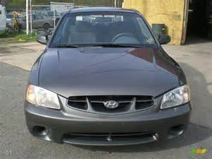 Hyundai Accent Gray 2001 Charcoal Gray Hyundai Accent Gs Coupe 12956440