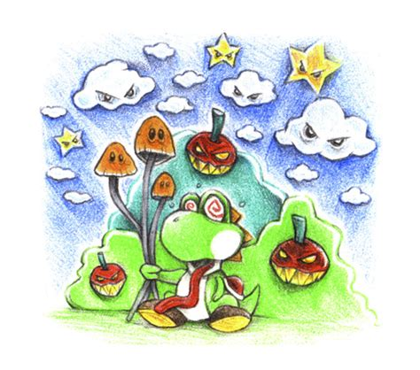 yoshi mushroom by trippy toons media amp culture cartoon