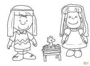 charlie brown christmas nativity coloring free printable coloring pages