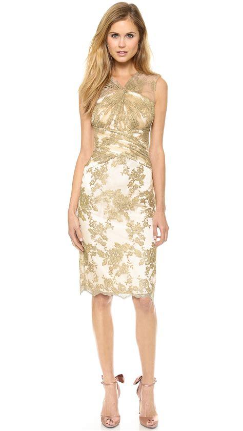 Gold Dress For lyst badgley mischka badgley mischka collection gold in metallic