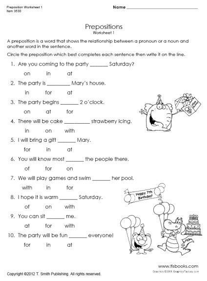 snapshot image of preposition worksheet 1 writing