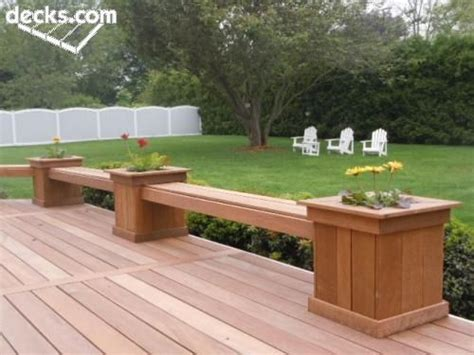 Decking Planter Box by Decks With Planter Box Bench Planter Boxes With Bench