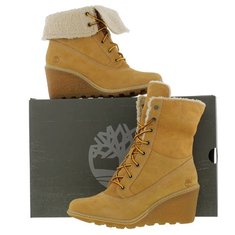 timberland wedge boots timberland womens earthkeeper amston roll top wedge boots