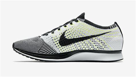 New Sepatu Running Nike Flyknit Racer Black White nike flyknit racer quot black white volt quot official images complex