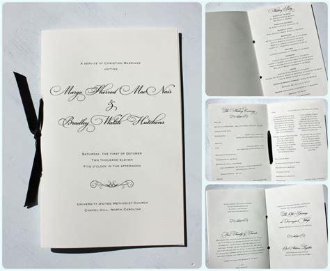 Wedding Ceremony Booklet by Fancy Black Script Scroll Wedding Invitations With Black