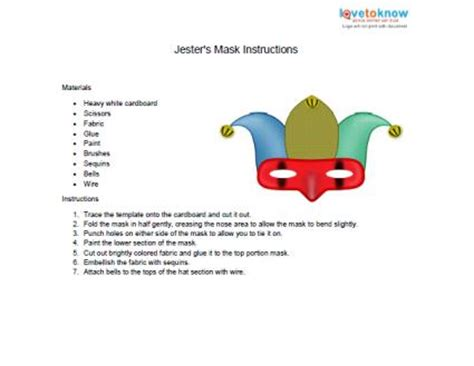 jester mask template mardi gras mask template