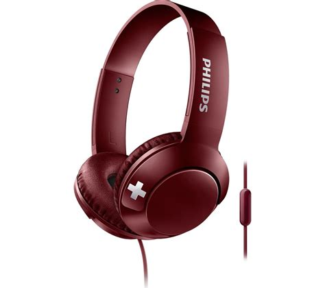 Philips She8500 Stereo Bass Earphone buy philips bass shl3075rd headphones free delivery currys
