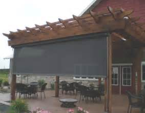 Pergola With Screen by Pergola Designs With Roll Shades Exterior Retractable