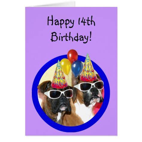 Happy 14th Birthday Wishes Happy 14th Birthday Boxers Greeting Card Zazzle
