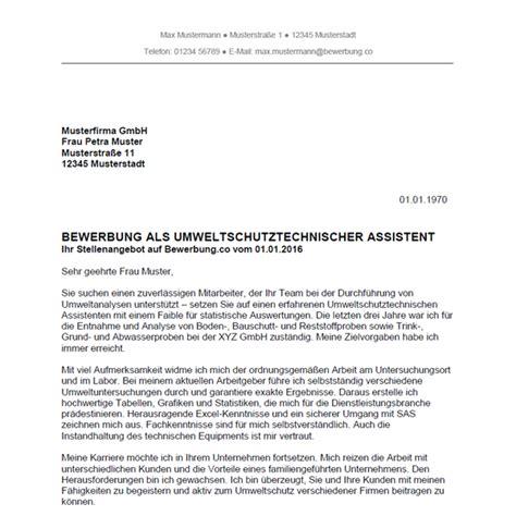 Bewerbungsschreiben Als Verkäuferin Vorlage Bewerbung Als Umweltschutztechnischer Assistent Umweltschutztechnische Assistentin Bewerbung Co