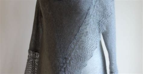 minimal look in grey knit symphony of silk sweater wrap in grey mohair made to order via etsy dyt