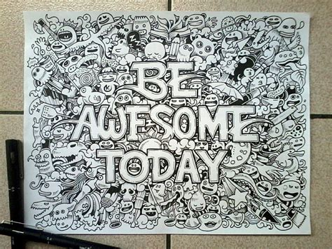 cool doodle drawing 15 mind blowing doodles by kerby rosanes