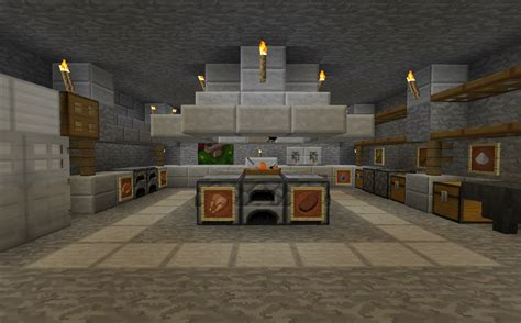 Kitchen Ideas For Minecraft Minecraft Kitchenminecraft Projects Minecraft Kitchen With Functional Food Dispensers W47aos7v
