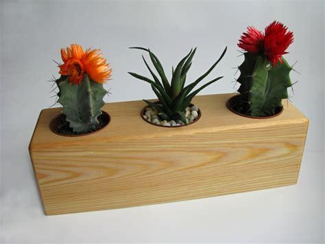 Handmade Wooden Flowers - handmade wooden flower pot pine wood succulent grow pots