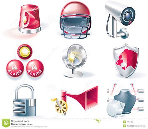 Alarm Vector vector security icon set stock vector image of emergency