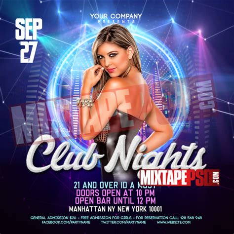 Flyer Psd Template Club Nights 3 Mixtapepsd Com Club Flyer Templates Photoshop