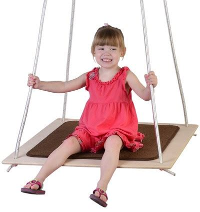 swing for autistic child edge series carpeted platform swing especial needs