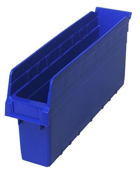 plastic storage bins 8 quot shelf bin qsb803 17 7 8 x 4 3