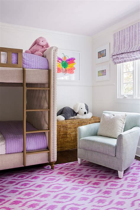 girls bedroom ideas bunk beds blue and purple girl bedroom with anthropologie knotted