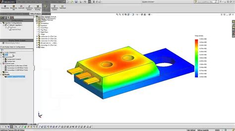 tutorial solidworks thermal analysis solidworks quick tip thermal study introduction youtube