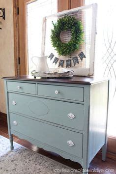 diy chalk paint with behr antique dresser revived with behr s gray morning made into