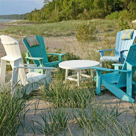 Poly Lumber Adirondack Chairs by Poly Lumber Adirondack Chair And Headrest Combo Dfohome
