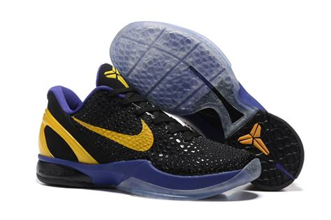 purple and black nike basketball shoes nike zoom 6 black purple yellow basketball shoes