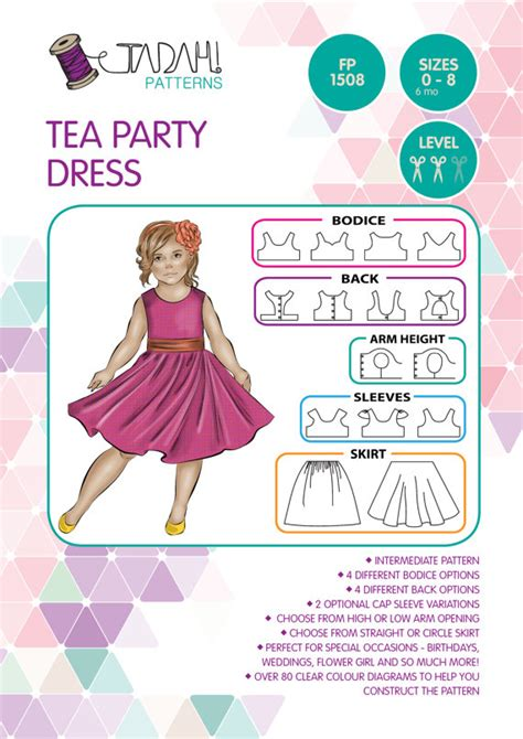 etsy tadah pattern pattern tea party dress pdf sewing pattern by tadahpatterns