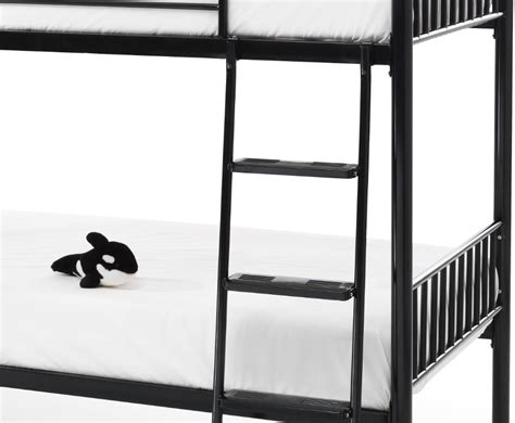 black metal bunk bed oslo black metal bunk bed single sized frances hunt