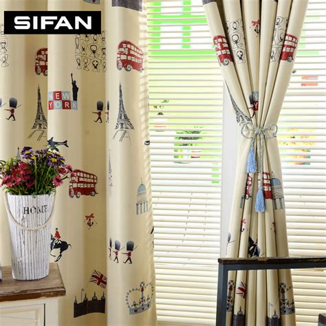 yellow curtains for bedroom tree printed yellow blue blackout curtains for