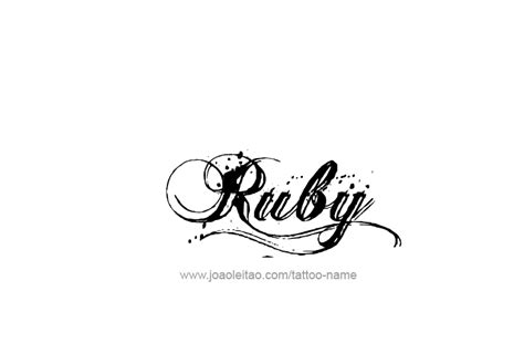 Tattoo Ideas For The Name Ruby | ruby name tattoo designs