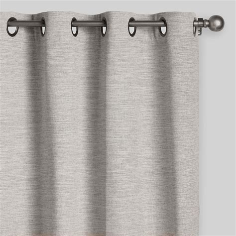 natural fiber curtains heather gray cotton curtains set of 2 world market