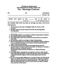 sample marriage contract 7 examples in word pdf