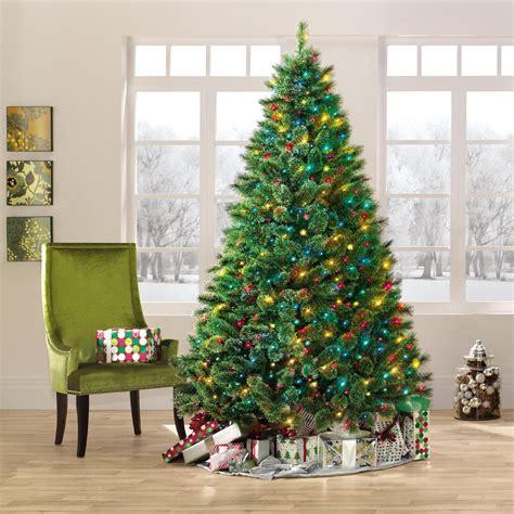 7 5ft pre lit ridgedale cashmere spruce christmas tree