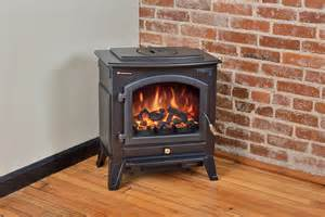 Electric Stove Fireplace Comfort Smart Vermont Black Electric Fireplace Stove With