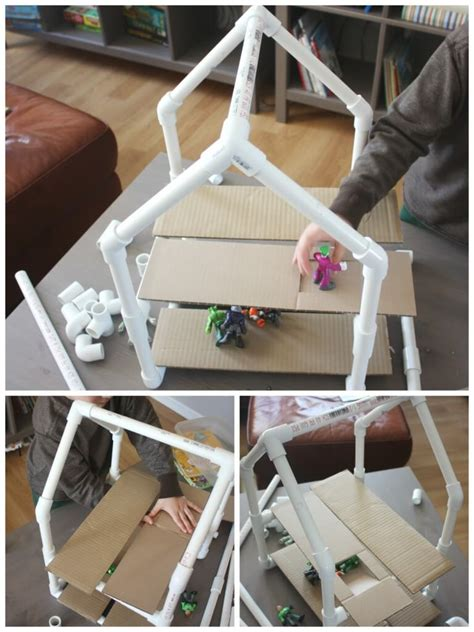 diy projects with pvc pipe pvc pipe house building project stem engineering activity