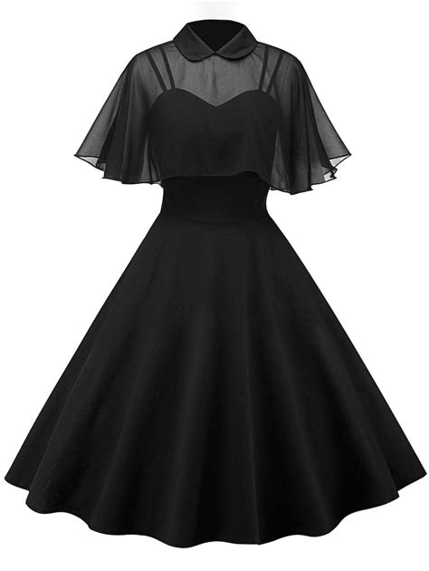 On Line Vintage Clothing Directory A To Z by Vintage Dresses Black L Vintage Pin Up Dress With Sheer