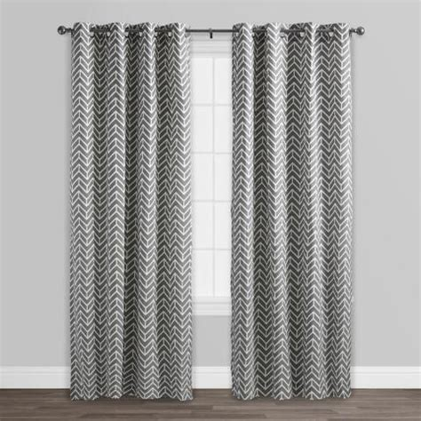 arrow curtains charcoal gray arrow cotton curtains set of 2 world market