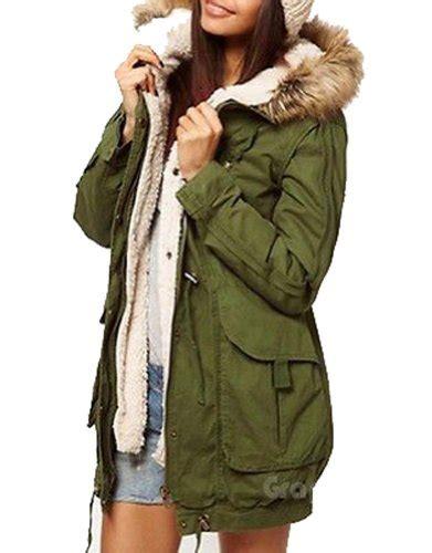 Jaket Parka Green Army Jaket Parka Jumbo Parka Cotton Premium army olive green womens thicken fleece jacket winter warm coat hooded parka 3674 year of style