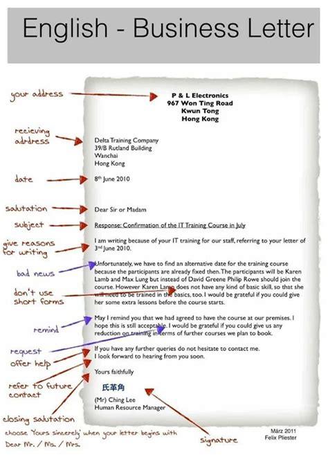 write effective business letter english esl