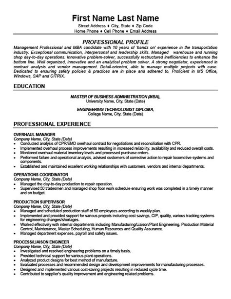 Resume Templates 101 by Overhaul Manager Resume Template Premium Resume Sles Exle
