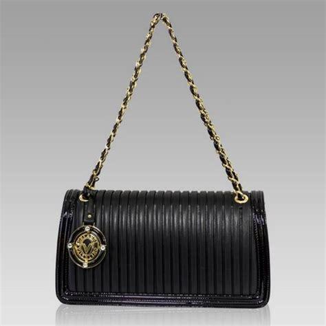 Plisse Wristlet by Valentino Orlandi Italian Black Plisse Textured Leather