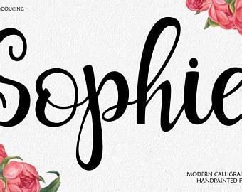 Wedding Font Brush by Brush Font Etsy