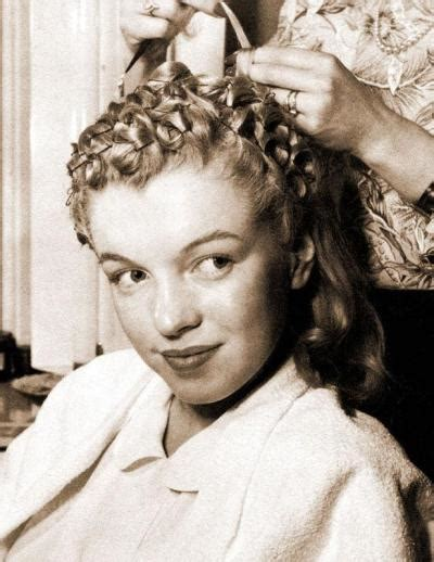 marilyn monroe long hair tutorial a marilyn pin curl set va voom vintage with