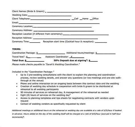 Agreement Letter For Event Sle Vendor Contract Template 13 Free Sles Exles Format