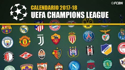 Calendario J League Calendario Chions League 2017 2018 Fc Barcelona Noticias